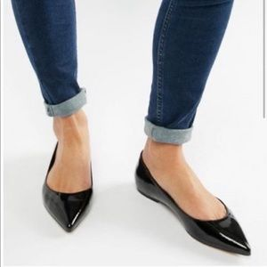 J. Crew patent leather pointy flat